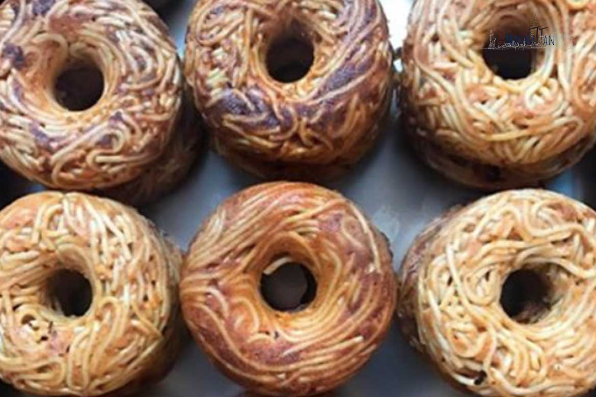how to make a spaghetti donut