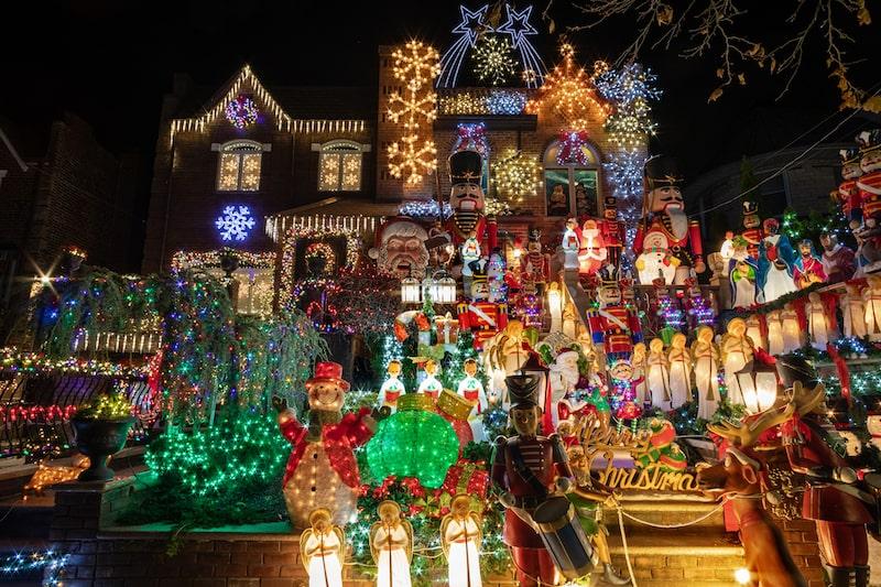 de paseo por manhattan - Luces de Navidad de Dyker Heights